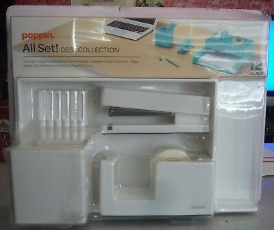 Poppin All Set, Desk Collection Set, White, New, Free Ship