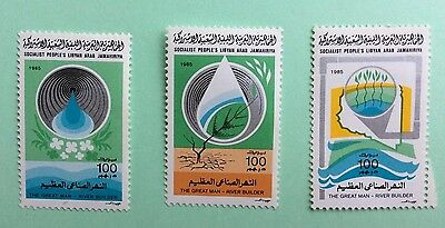 TIMBRE Stamp LIBYE 1985 The Great Man River Builder