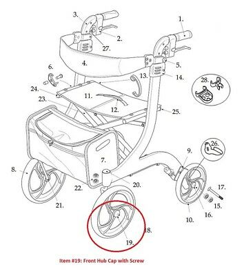 Wheelchair Parts Parts Accessories Mobilitywalking Equipment