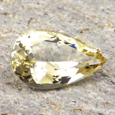 GOLD-YELLOW OREGON SUNSTONE 9.90Ct FLAWLESS-PRECISION FACETING-FOR TOP JEWELRY