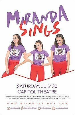 MIRANDA SINGS 2016 Gig POSTER Comedy Salt Lake City Utah Concert