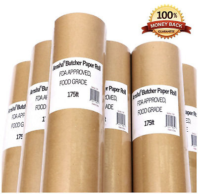 Butcher Paper Roll Meat Wrapping Brown for Smoking Meat Grilling Non-Waxed NEW