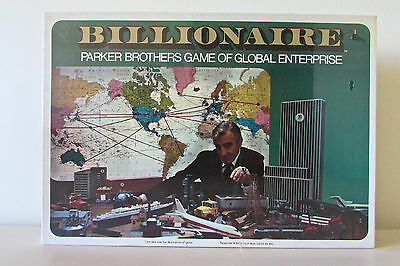 *NEW*Vintage Billionnaire Board Game By Parker Brothers*NEW*-Factory Sealed!