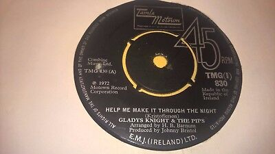 "GLADYS KNIGHT - Help Me Make It - IRISH PRESS 7"" MOTOWN SOUL IRELAND"