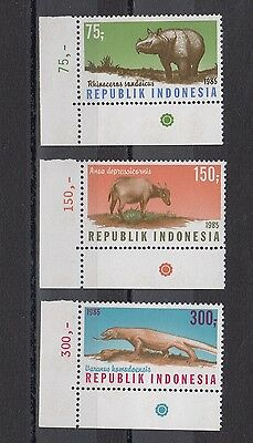 Timbre Stamp  3 Indonesie Y&t#1075-77  Animal Faune Neuf**/mnh-Mint 1985 ~A43