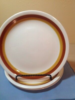 "Set Of 3 10-1/2"" Dinner Plates Harmony House Sears Tierra Ironstone 4251"