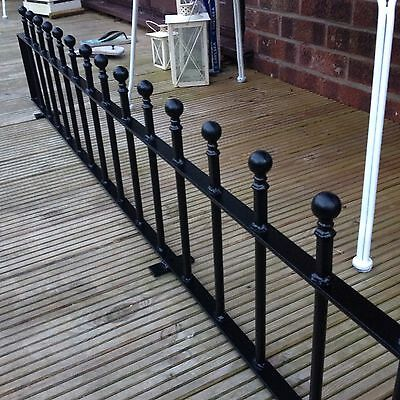 """Metal Galvanised & Coated Garden Low Wall Fencing Railing £14.50 per ft 12"""" high"""