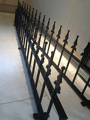 """Metal Galvanised & Coated Garden Low Wall Fencing Railing £14.00 per ft 12"""" high"""
