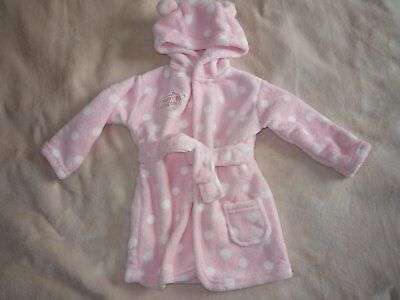 Baby girls bath robe dressing gown size 6-12 month BNWOT