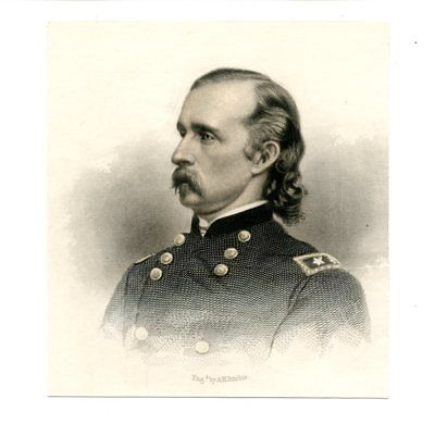 GEORGE ARMSTRONG CUSTER, Civil War General/Killed at Little Big Horn, Engraving