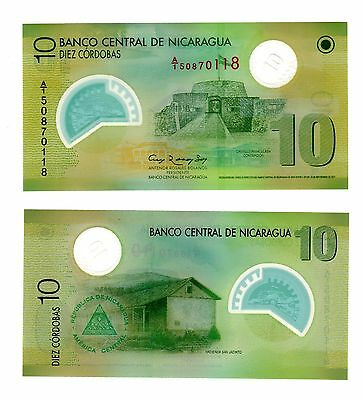 Banknote World Nicaragua ,1 Pce Of 10 Cordobas 2007/12,polymer,from Bundle