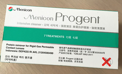 Menicon Progent X 7 Protein Remover Cleaner for Gas Permeable RGP Contact Lenses