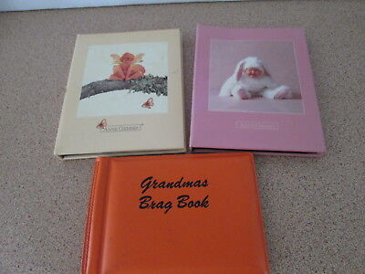 Three Small Brag Photo Albums Album Grandma's Brag Book Anne Geddes