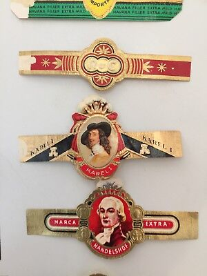Vintage Cigar Bands -  Lot Of 160 Plus Pieces.