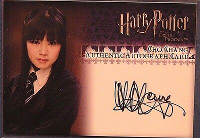 Harry Potter-OOTP-Authentic-Signature-Autograph Card-Katie Leung-Cho Chang