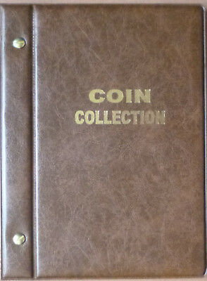 Small VST BROWN COIN STOCK ALBUM for 2 x 2 COIN HOLDERS - holds 48 Coins