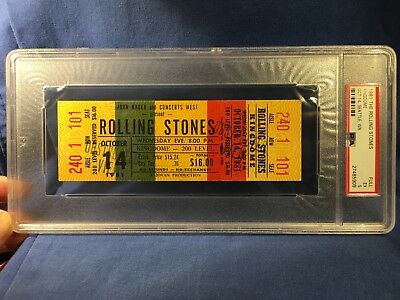 1981 Rolling Stones Full Ticket Seattle Kingdome PSA 5 Jagger Keith Richards