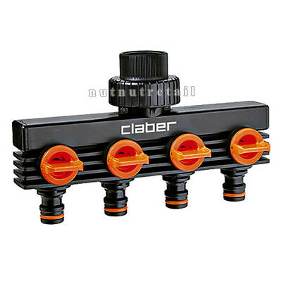 """Claber 3/4"""" male threaded four-way adapter"""