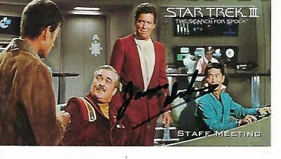 "James Doohan Hand Signed ""Star Trek"" Iii Search For Spock #33 - Mr. Scott"