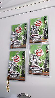 4 Ghost Busters Eraser Set In Package Free Priority Mail Shipping USA