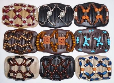 """Double Magic Hair Combs, Angel Wings Clips 4x3.5"""", African Butterfly,Quality S25"""