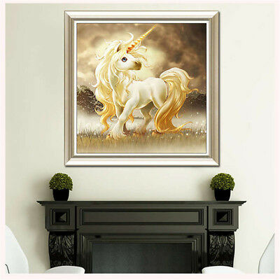 5D DIY Crystal Diamond Embroidery Cross Stitch Unicorn Painting Craft Decor Fads