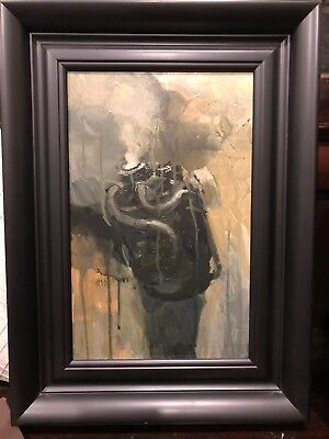 Ashley Wood Art Oil Painting Original 3a Threea