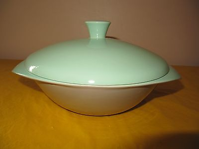 VINTAGE BRANKSOME Grey&Green TUREEN DISH small firing flaws, hardly used in VGC