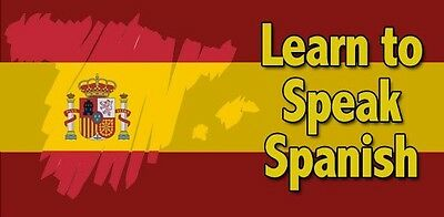 Learn To Speak Spanish - Language Course - 19 Books & 112 Hrs Audio Mp3 On Dvd!