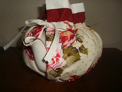 Pink and Red Roses Handmade Tea Pot Cozy