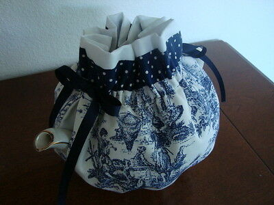 Blue and White Toile Handmade Tea Pot Cozy