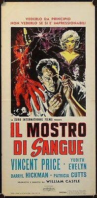 The Tingler (1959) Italian Locandina VINCENT PRICE