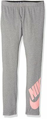 Nike g NSW a leg see lggng Logo Collant, filles L Multicolore - gris/melon (Carb