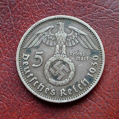 Germany 1936A silver 5 marks