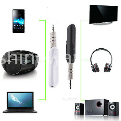 Bluetooth Wireless 3.5mm AUX Audio Stereo Music Home Car Adapter Mic Receiver