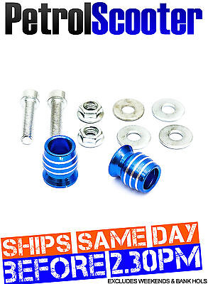 Alloy Handlebar Bar End Weight Caps Blue Motorcycle Motorbike Bicycle 16mm