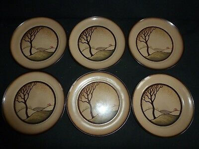 Six Denby - Savoy Pattern - Tea Plates