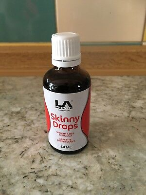 LA Muscle Skinny Drops:  Rapid weight loss, Instant appetite control. New sealed