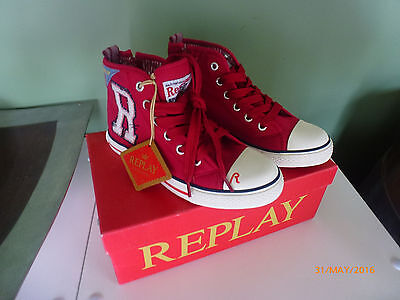 Replay Hi-tops Brand new in box. Girls or boys Hi-tops. Size 31 or AU 2 or US 13