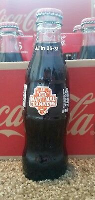Coca Cola Clemson Tigers 2016 National Championship Coke Bottle 8 oz single
