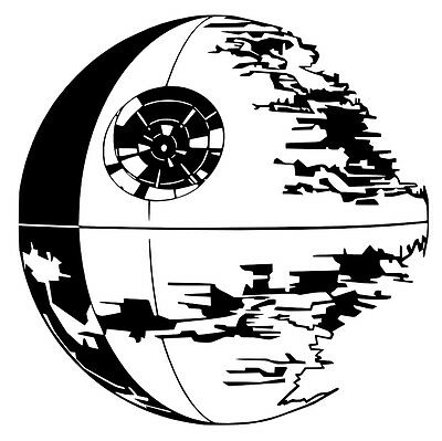 StarWars Death Star vinyl Decal / Sticker