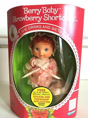 Strawberry Shortcake Berry Baby Doll Unopened Rare Vintage Doll