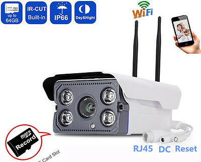 1080P Wireless Security IP Outdoor Audio Camera Wifi Surveillance TF Card Slot