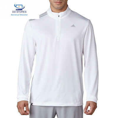 Adidas 3 Stripes French Terry Veste avec zip de Golf, homme