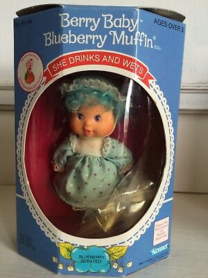 Strawberry Shortcake Berry Baby Blueberry Muffin Doll Unopened Rare Vintage Doll