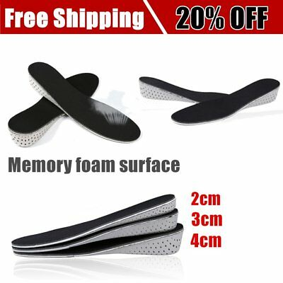 Memory Foam Height Increase Insole EVA Heel Lift Insert Taller Insole Shoe Pad B