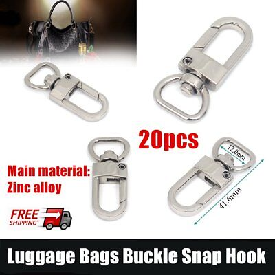 20pcs/lot Luggage Bags Buckle Snap Hook Fastener Bag Hanger Clasp Parts BTF