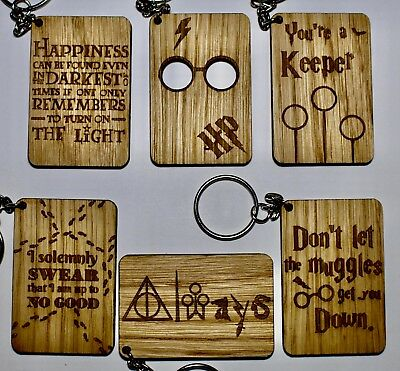 Harry Potter Keyrings, Birthday, Mother's Day, Christmas, Gift Pack Of 6