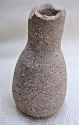 Antique Pottery Miniature Bottle Found In The Holyland