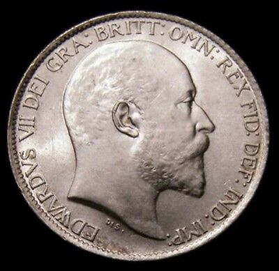 1909 Edward VII Sixpence CGS Slabbed coin